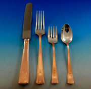 Carthage By Wallace Sterling Silver Flatware Set Service W/ Copper Rustic Dinner