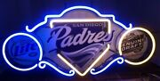 San Diego Padres Miller Lite Genuine Draft Beer Authentic Neon Sign Made In Usa