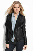 Hinge And039waterfalland039 Leather Jacket In Black M 350+
