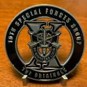 Large 2.5 Htf 10th Special Forces Group The Originals Challenge Coin