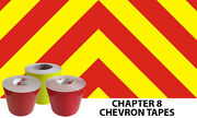 3m / Orafol Chapter 8 Diy Reflective Chevron Material Kit Red Yellow 150mm Tapes