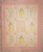 Angel Themed Pink Baby Quilt 50 X 41