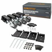 Powertec 17002 Workbench Casters With Quick-release Plates 4 Sets Black