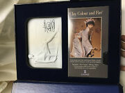 Lladro Collectors Society Set Bisque Porcelain Plaque And Tape In Expression Case