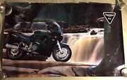 Very Rare Vintage Triumph Trophy 3 900 Motorcycle Poster 39x24
