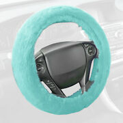 Mint Soft Plush Faux Wool Non-slip Steering Wheel Cover Protection Car Truck Suv