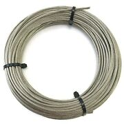 High Brightness Stainless Steel 316 Wire Rope Cable 1/8 7x19 By 100and039 Marine