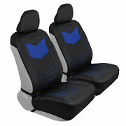 Car Sideless Seat Covers Motor Trend Blue Pu Leather Front Set Auto Truck Suv