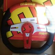 Momo Steering Car Decor Rare Parts Red T-2 350mm Never Used Very Rare Japan