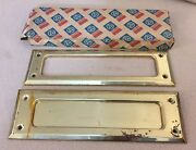Baldwin Brass Letter Box Plate Set 315 Us3- Made In Usa - Reading Pa.