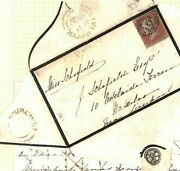 Gb Cover 1854 Liverpool Cross-written Mourning Letter Church Street Udc Ap554