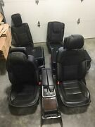 12-16 Mercedes Gl350 Ml350 Gl450 Ml550 Front And Rear Seat Set Black Leather