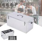 25lb Commercial 13gpm Stainless Steel Grease Trap Interceptor For Restaurant