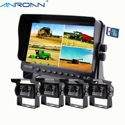 Backup Camera And Monitor Kit 7 Dvr Monitor Quad Screen For Truck Trailer Rv