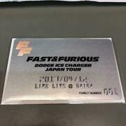 Fastandfurious Dodge Ice Charger Japan Tour Family Card No.001 Live Live 8 Only