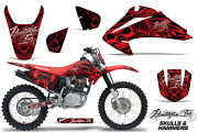 Graphics Kit Decal Wrap + Plates For Honda Crf150 Crf230f 2003-2007 Hish Red