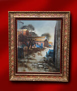 Marc Chapaud French Artist Original Oil Painting And039 Provence Les Charrettes And039
