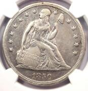 1850-o Seated Liberty Silver Dollar 1 - Ngc Au Details - Rare Early Date Coin