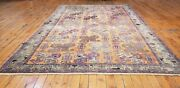 Beautiful Antique Cr1900-1939and039s Wool Pile Muted Saffron Dye Oushak Rug 4x6ft