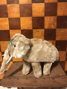Vintage Mechanical Wind Up Plush Mohair Toy Circus Elephant