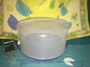 Tupperware Blue Maxi Cake Taker Carrier 3062 With Handle 3786