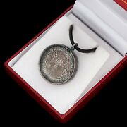 Antique Vintage Deco Sterling Silver Chinese Yuan Shikai Coin Pendant Necklace