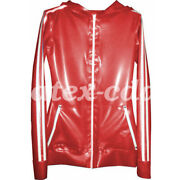 Hot Sale Latex Jacket Rubber Handsome Fashion Hoodie Size S-xxl