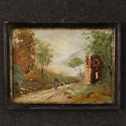 Painting Italian Painting Paesaggio Signed Antique Style Impressionist Frame