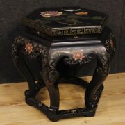Side Table Chinoiserie Furniture Lacquered Paint Wood Antique Style Living Room