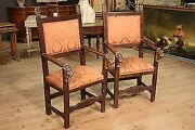 Antique Thrones Armchairs Chairs Carved Sculpted Decorations Golden Cabinet 800