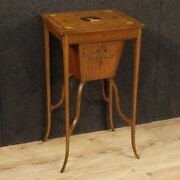 Small Table English Sewing Kit Living Room Antique Furniture Wood Inlaid 800