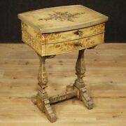 Small Table Bedside Lacquered Furniture Living Room Italian Wooden Antique Style