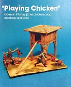 Jaguar Models 1/35 Playing Chicken 2 Resin Figs + Chicken Coop And Base - 63614
