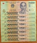 Vietnamese Dong 5 Million 10 X 500000 Note Vietnam 500000 Note Currency Vnd
