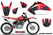 Dirt Bike Graphics Kit Decal Wrap For Honda Crf150 Crf230f 2003-2007 Zombie Red