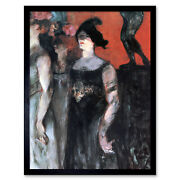 Toulouse-lautrec Messaline Two Extras Painting Art Print Framed 12x16