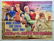 The Inn Of The Sixth Happiness Original Uk Movie Quad Poster 1958 Tom Chantrell