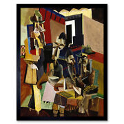 Weber The Visit Abstract Cubism Painting Art Print Framed 12x16