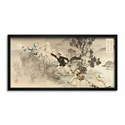 Toshikata Great Battle Ansong Ford Painting Long Framed Art Print