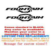 Pair Of 10.5 X60 Long Fountain Boat Hull Decals Marine Grade Your Color Choice