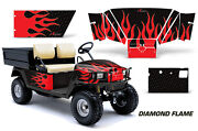 Golf Cart Graphics Kit Decal Sticker Wrap For E-z-go Workhorse 96-03 Dflame R K