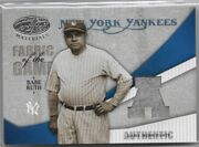 Babe Ruth Yankees 2004 Leaf Certified Materials Game Worn Pants 3/3 Jersey 1/1