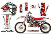 Decal Graphics Kit Wrap + Plates For Ktm Exc Mxc 250 300 1990-1992 Mad Red Wht