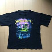 Megadeth T Shirt Metal Rock Band Collectible Men 80and039s Vintage One Size Used F/s