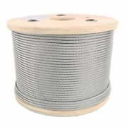3/8 Stainless Steel Aircraft Cable Wire Rope 7x19 Type 304 T-304