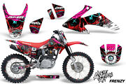 Graphics Kit Decal Wrap + Plates For Honda Crf150 Crf230f 2008-2014 Frenzy Red