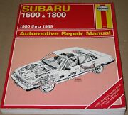 Subaru 1600 And 1800 Auto Repair Manual By Haines