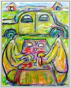 Front Populaire Modern Art Contemporary Oil Painting