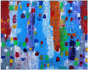 Summer In The City Toile Oil Canvas Art Abstrait Modern Painting Jean Mirre