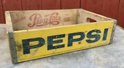1 Clean Vtg 10-71 Drink Pepsi Cola Wood Crate Case Wooden Box See All